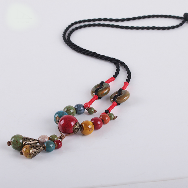 Ethnic Style Porcelain Necklace  - Zaida Fashions