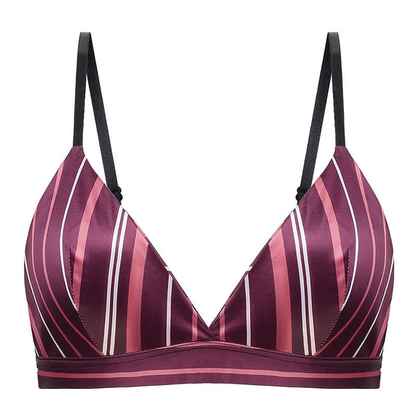 Silk Striped Bra S to XL