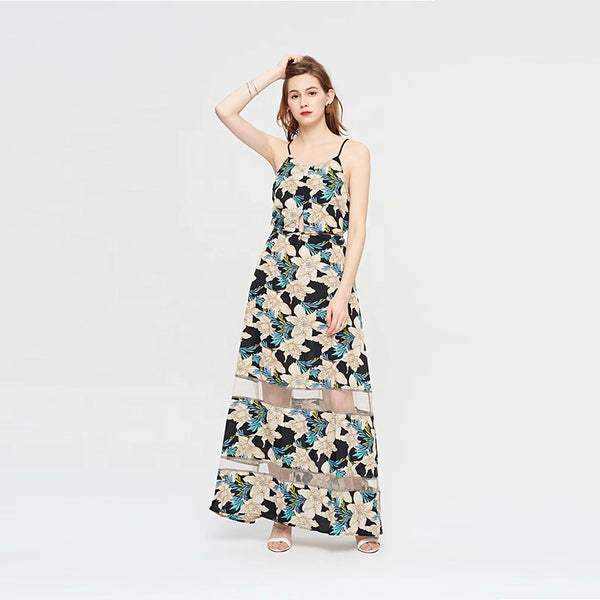 Boho Style Summer Sleeveless Maxi Casual Dress S to 2XL