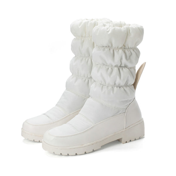 Square Heel Winter Snow Boots Size 34 to 43  - Zaida Fashions