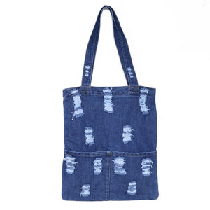Denim Tote Shoulder Bag