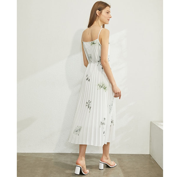 Causal White Midi Dress S to L