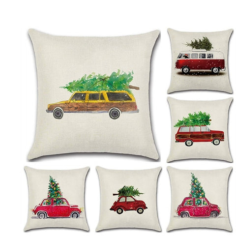 Christmas Tree Car Cushion Covers 45cm X 45cm
