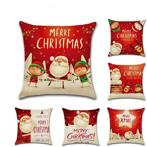 Christmas Santa Elk Cushion Cover 45cm x 45cm