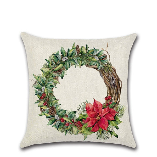 Christmas Wreath Cushion Covers