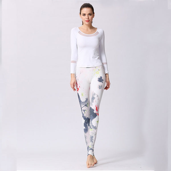 Flower Print Seamless Yoga Pants S - XL  - Zaida Fashions