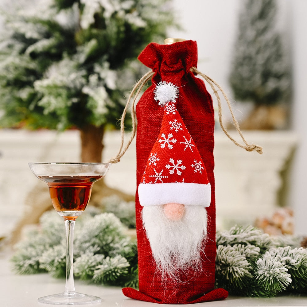 Christmas Wine Bottle Cover Decorations