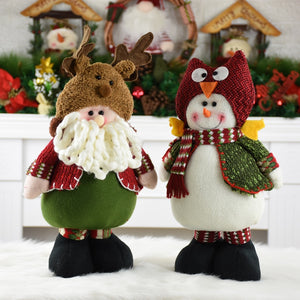 Christmas Santa Claus Snowman Tree Decorations