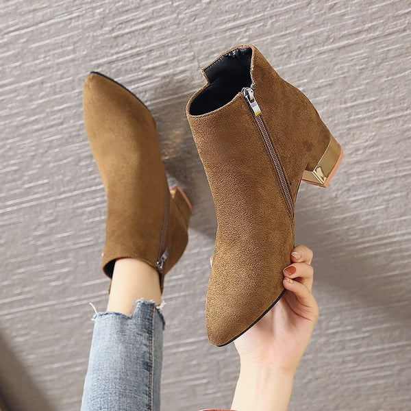 Winter Ankle Brown Black Boots 35 to 43