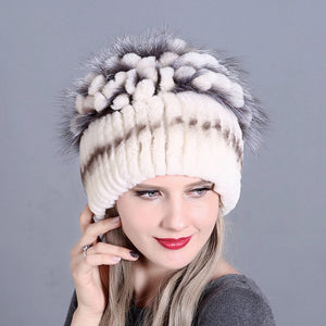 Winter Rex Rabbit Beanies Caps  - Zaida Fashions