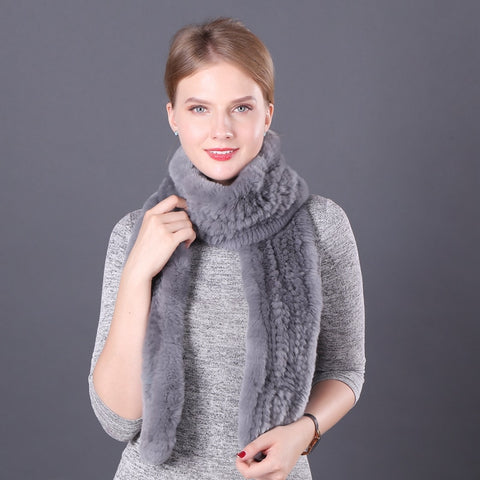 Winter Rabbit Fur Scarf  - Zaida Fashions
