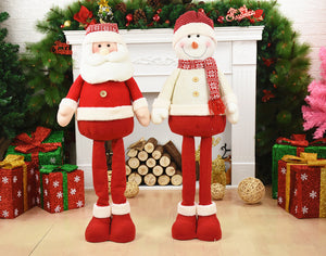 1M Plush Santa Claus Snowman Christmas Decoration Ornaments