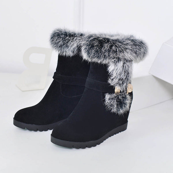 Winter Casual Heels Boots Size 4 to 8.5  - Zaida Fashions