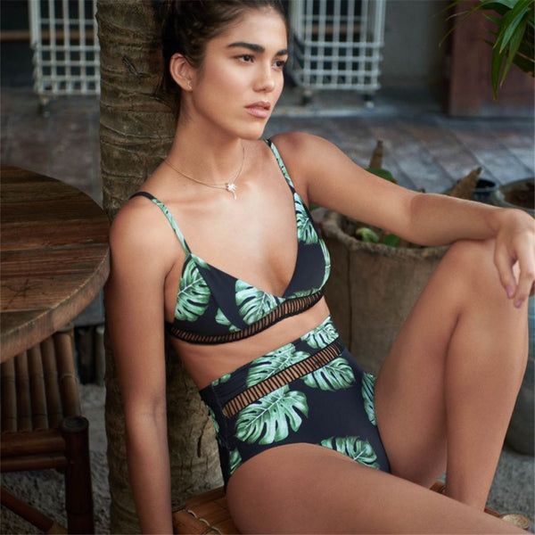 Green Leaf Brazilian Bikini S to L