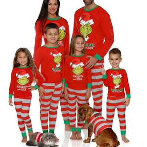 Christmas Family Matching Red Nightwear Dress Set
