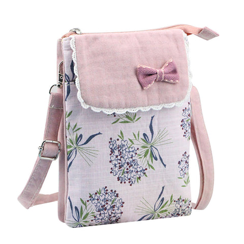 Floral Canvas Small Crossbody Bags