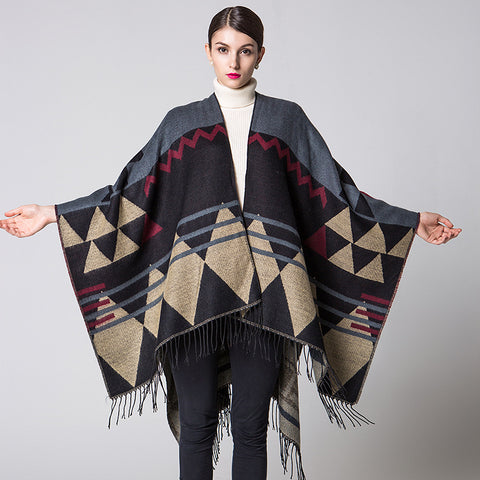 Winter Geometric Travel Shawl  - Zaida Fashions