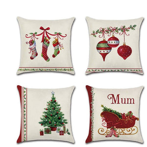 Christmas Red Socks Bell Cushion Covers 45cm x 45cm