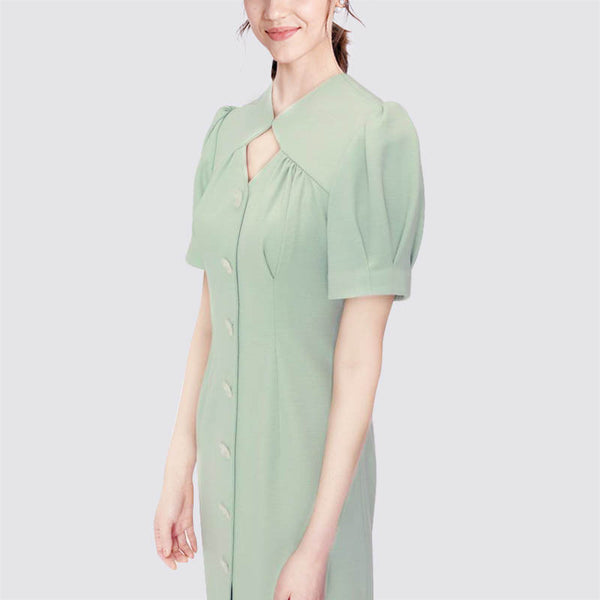 Autumn Mint Green Midi Dress S - XL  - Zaida Fashions