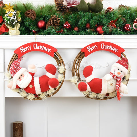 Santa Snowman Christmas Table Decorations