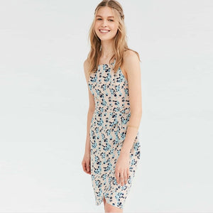 Floral Print Sleeveless Casual Dress  - Zaida Fashions