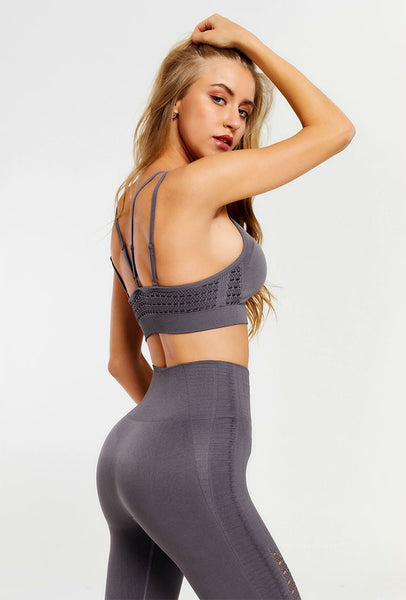 Quick Dry Anti-Shrink Yoga Fitness Sports Suit S - L  - Zaida Fashions