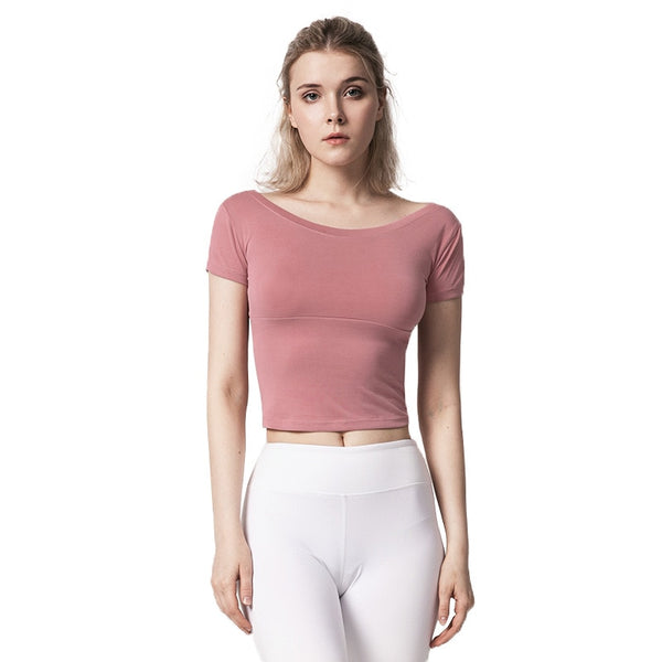 Breathable Fitness Crop Top S - L  - Zaida Fashions