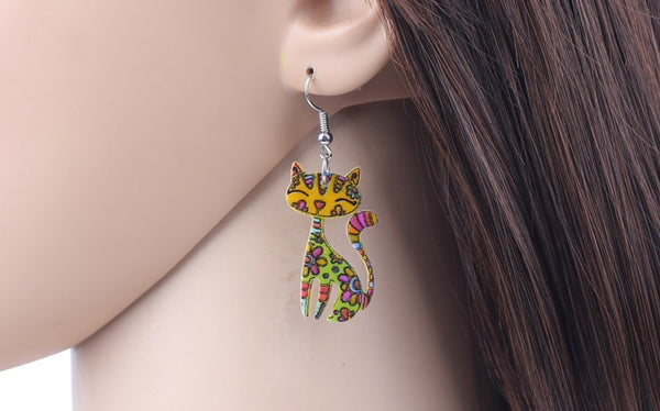 Cat Earrings For Women  - Zaida Fashions