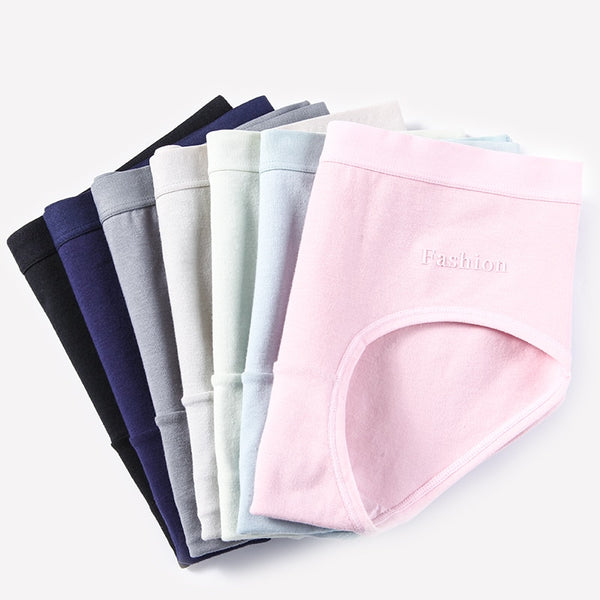 4Pcs Cotton Seamless Panties M to XXL