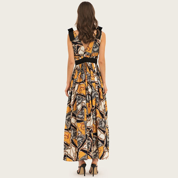 Boho Sleeveless Maxi Dress S - XL  - Zaida Fashions