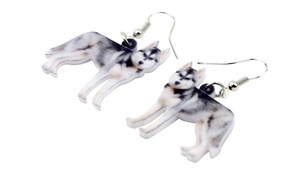 Siberian Husky Dog Earrings  - Zaida Fashions
