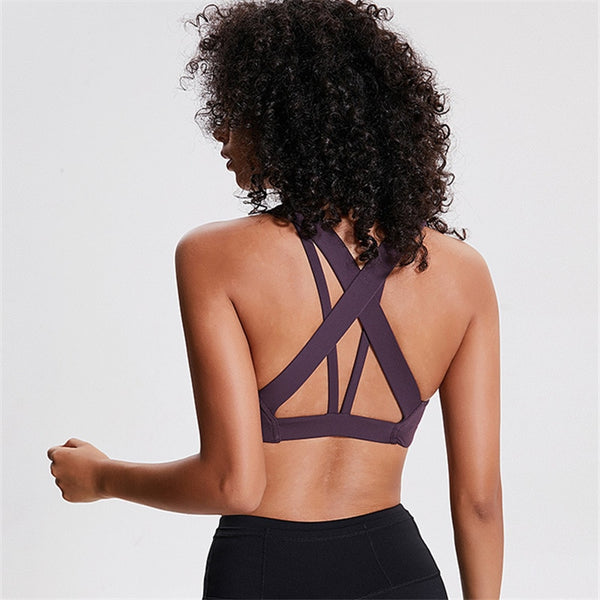 Quick Dry Cropped Fitness Bra S - L  - Zaida Fashions