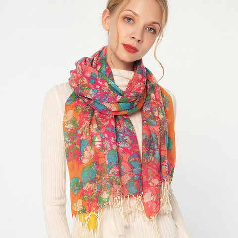 Winter Wool Scarves With Tassel 170x65cm  - Zaida Fashions