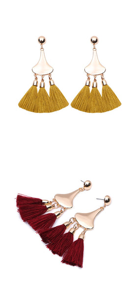 Retro Tassel Earrings  - Zaida Fashions