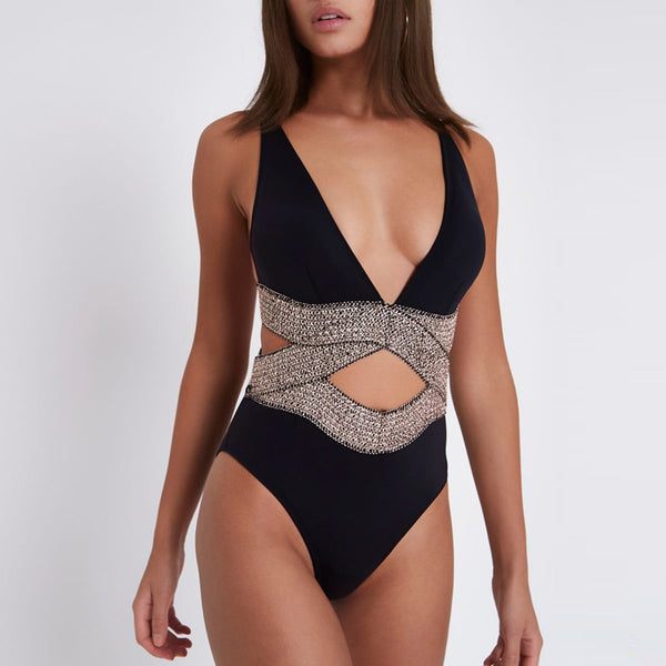 Black One Piece Swimsuit S to L