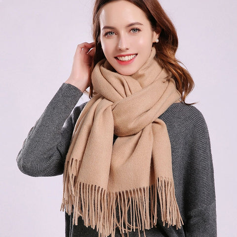 Tassel Warm Wool Scarves 180x70cm