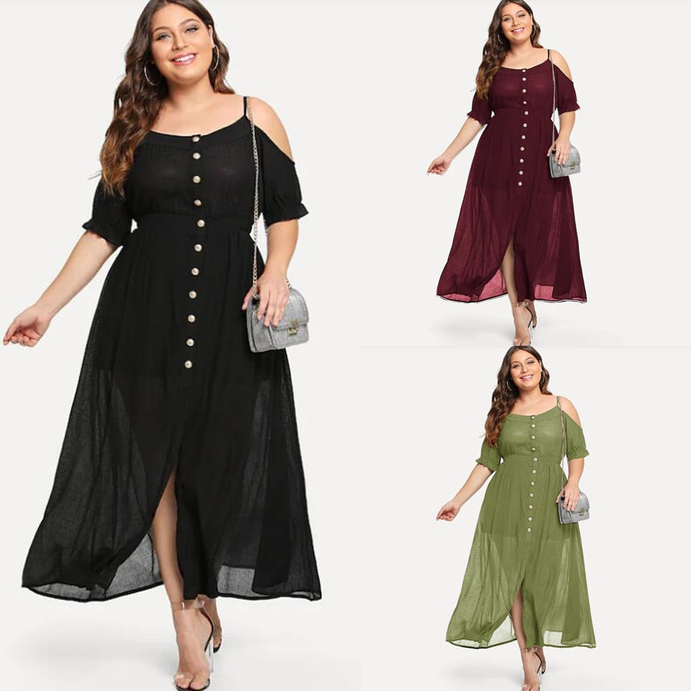 8f46a2daceed Chiffon Maxi Dress Plus Size Formal Dresses - Barrier Surveillance