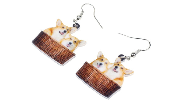 Cute Dog Earrings  - Zaida Fashions