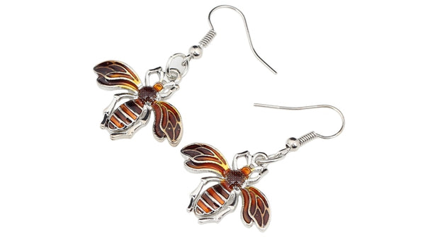 Honeybee Dangle Earrings  - Zaida Fashions