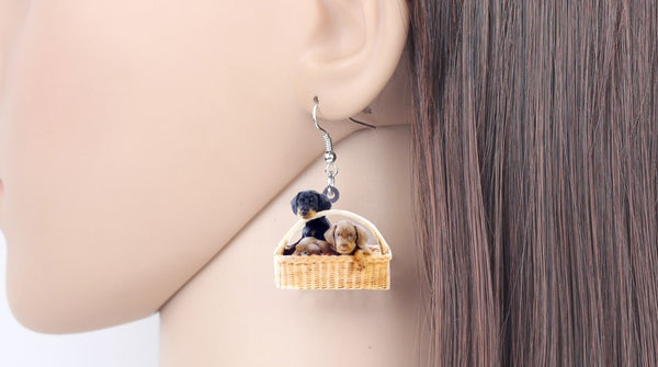Dachshund Dog Earrings  - Zaida Fashions