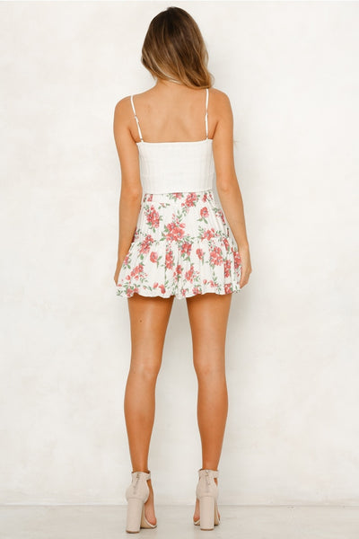 Summer Floral Mini Skirts  - Zaida Fashions
