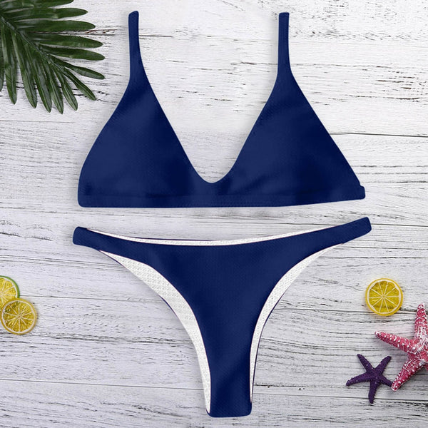 Two Piece Women Push-up Padded Bikini Set  - Zaida Fashions