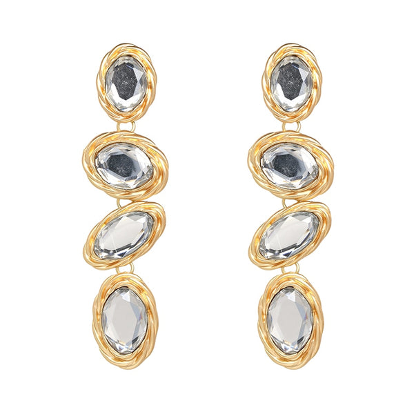 Metal Drop Earrings  - Zaida Fashions