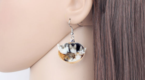 Cute Kitten Earrings  - Zaida Fashions
