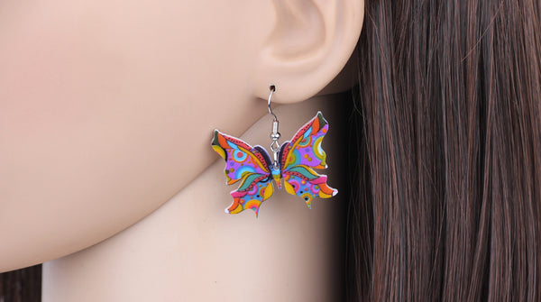 Colorful Butterfly Drop Earrings  - Zaida Fashions