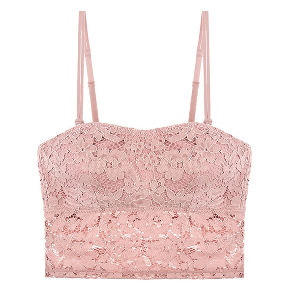 Strapless lace bra S to L