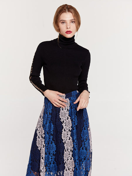 High Waist A-Line Fashion Casual Lace Skirts  - Zaida Fashions
