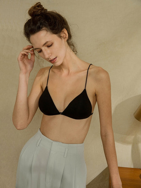 Front Closure Triangle Cup Ultra-thin Bra S to XL