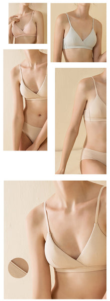 French Triangle Cup Wireless Bra S to XL
