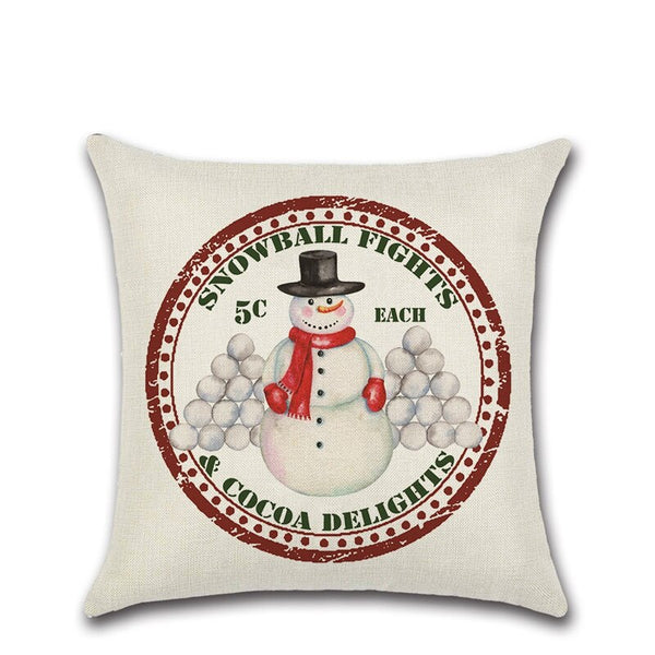 Christmas Postmark Cushion Covers 45cm x 45cm